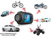 Completa camara deportiva full hd con monitor integrado y control remoto