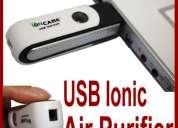 Purificador de aire e ionizador por usb para computadores