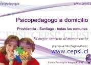 Psicopedagogo a domicilio providencia y comunas cepsi ®