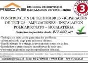 Cambio de techo, mantencion techo, filtraciones y reparaciones