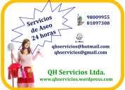 servicios de aseo integral: empresas, oficinas, hogar.