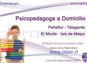 Psicopedagoga peñaflor talagante el monte isla de maipo cepsi