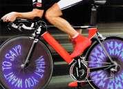 Luz led para ruedas de bicicletas con mensajes personalizables