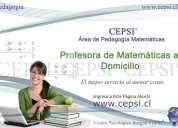 Profesora de matemáticas a domicilio cepsi®