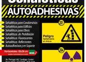 SeÑaleticas de seguridad industrial  autoadhesivas y en soportes