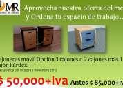 Promoción de cajoneras móviles de myr muebles