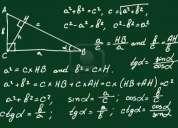 Se realizan clases particulares de fisica y matematicas, tambien preparo psu