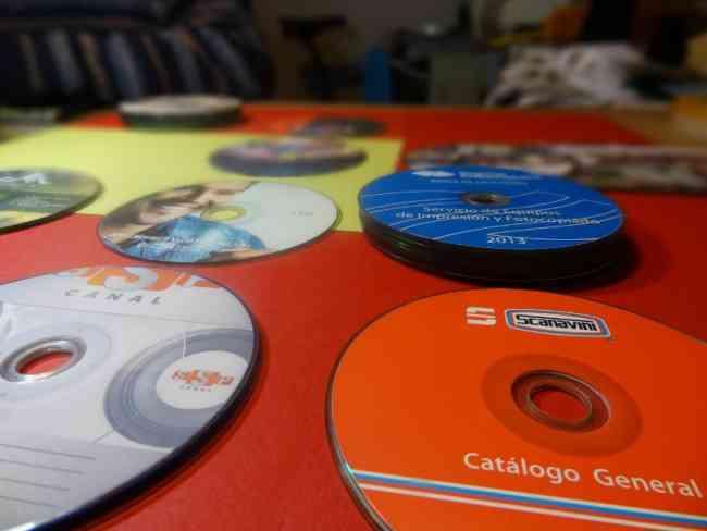 Impresión de CD y DVD $300