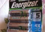 Vendo pilas aa recargables energizer 8
