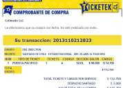 Entrada golden one direction 30 de abril