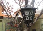 antiguo farol de fierro hermoso diseño
