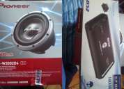 Bajo pioneer 3500w doble bobina + amplificador element 1800w