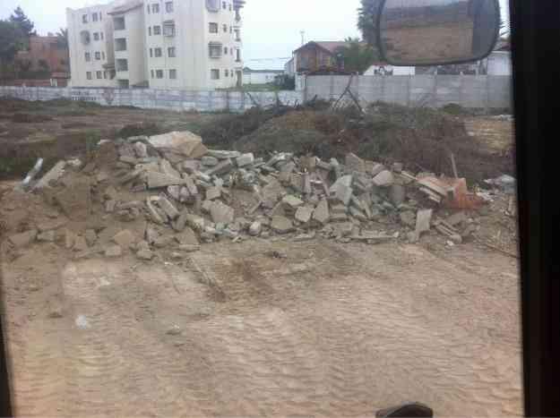 Retiro escombro y limpieza de terrenos