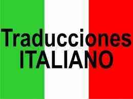 Traducciones del español al italiano