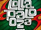 Pulsera lollapalooza 2014 pase 2 días sábado y domingo