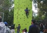 Muro de escalada toro mecanico juegos inflables camas elasticas
