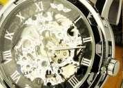 Reloj skeleton automático ronda