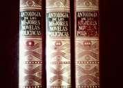 Antologia de novelas policiacas - 3 tomos- tapa dura -edit. acervo 1961
