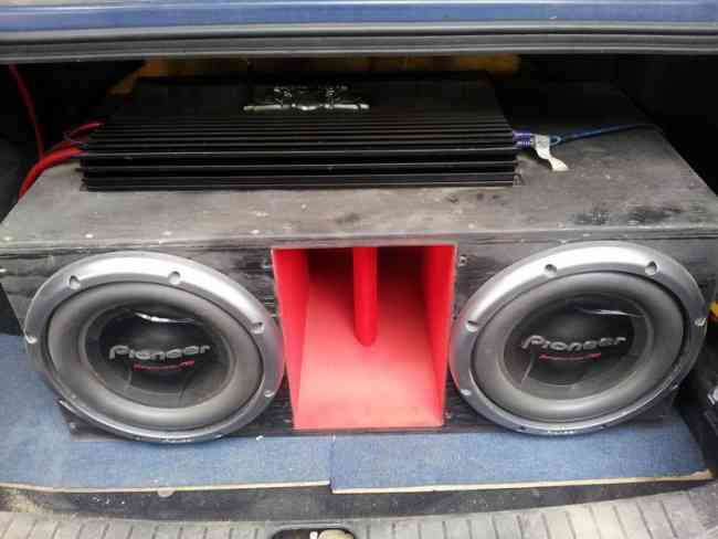 Amplificador P.acoustik y subwoofer pioneer!!