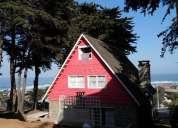 casa de piedra en el tabo con chimenea, para 13 personas vista al mar