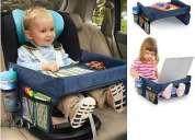 Bandeja de viaje para bebes y niños para auto, coche, avion y mas