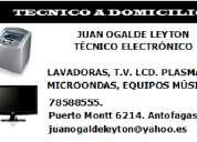 Reparación,mantención y servicio a domicilio de lavadoras,televisores,microondas,equipos.