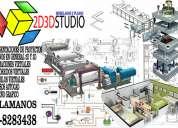 Planos en general 2d y 3d presentaciones visuales