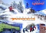 Viajes a los centros de ski en santiago, valle nevado, etc