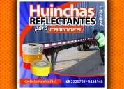 Huinchas adhesivas reflectantes para camionetas mineras