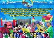 animaciones cumpleaños rancagua   arriendo de juegos inflables show de titeres