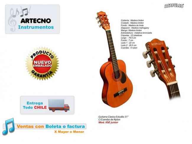 Guitarra Clasica Para Niños Marca Acapulco
