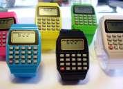 Reloj calculadora moda joven colores fashon pulsera silicona