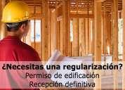 Permiso de edificación, recepción final y patente comercial. arquitecto.