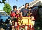 Autos dobles parejeros y familiares, botes a remos, botes a pedales, triciclos  dobles