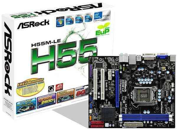 OFERTON   PLACA MADRE ASROCK  H55M-LE  + 4GB RAM DDR3