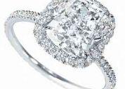 Anillos de oro w. sparks con diamantes y brillante asha