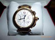Reloj cartier modelo pasha oro macizo y cuero