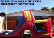 Se arrienda juego inflable