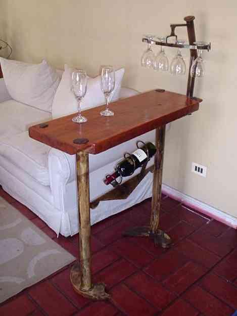 Muebles de fierro y madera metales y fantasias conc n for Bar de madera y fierro