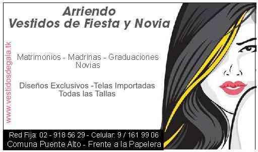 VESTIDOS DE FIESTA Y NOVIA **ARRIENDO EN PUENTE ALTO** , La Florida , Ropa , Accesorios
