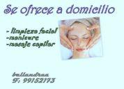 Limpieza facial+ manicure+ masaje capilar a solo $14.000