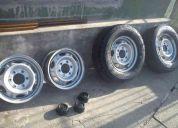 Llantas de acero r15 de camioneta 6 hollos