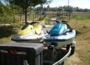 Dos motos de agua carro doble