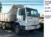 Ford cargo 2831 año 2006  tolva 12 m3.