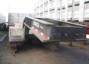 Vendo cama baja marca borco, aÑo 2002, cuello desmontable, 35 ton. dos puentes
