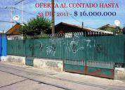 casa renca - hasta 31/dic $ 16.000.000 por oferta efectivo!!