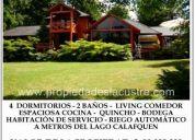 (80) casa en lican ray metros del lago calafquen