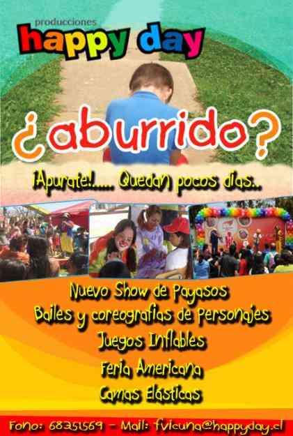 Local y Animacion para eventos Infantiles