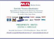 servicio técnico electrónico en computación, audio y vídeo.