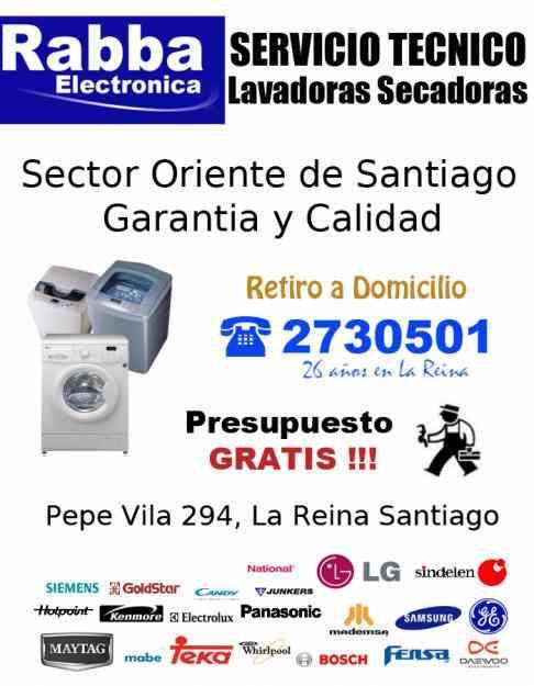 Servicio tecnico lavadoras LA REINA Retiro a Domicilio SECTOR ORIENTE PRESUPUESTO GRATIS!!